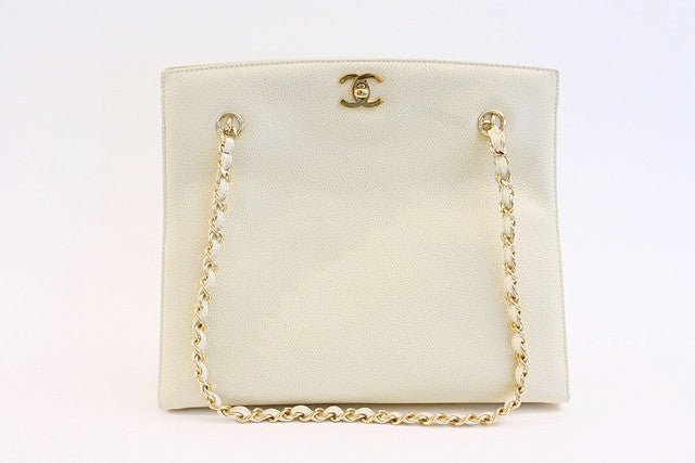 Vintage Chanel Caviar Tote Bag