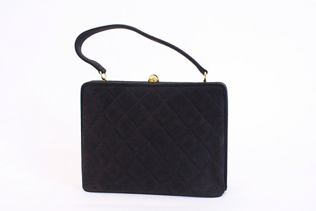 Rare Vintage Chanel Quilted Box Handbag