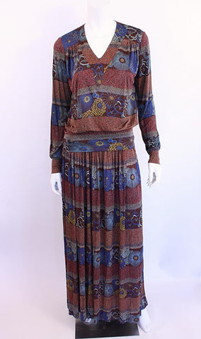 Vintage 70's MISSONI Silk Skirt & Top