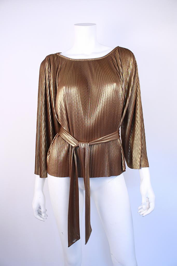 Halston Gold Metallic Top