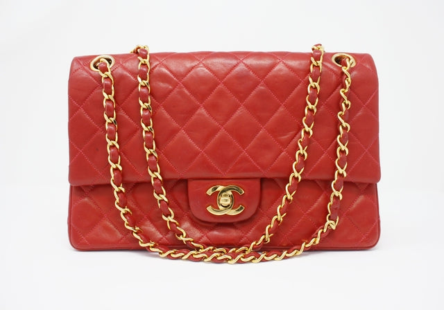 Vintage Chanel Red Double Flap Bag