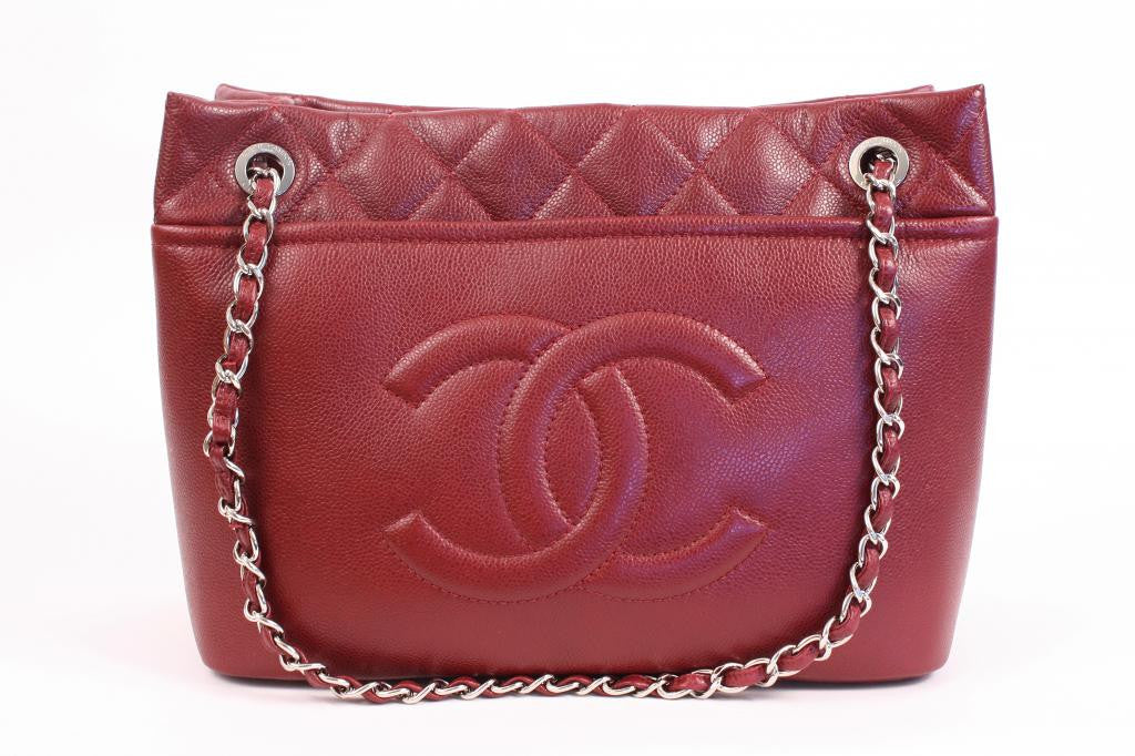Authentic Chanel Grand Shopper Tote Bordeaux