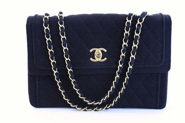 Rare Vintage Chanel Black Flap Bag