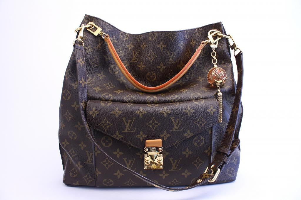 LOUIS VUITTON Metis Monogram Handbag with Extra Orb Charm