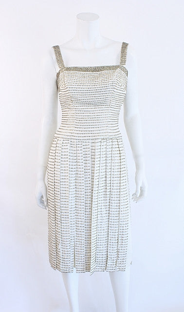 Vintage 60's ESTELLE ALLARDALE Beaded Fringe Dress