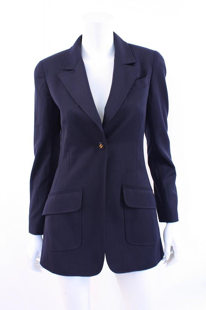 Vintage Chanel navy jacket
