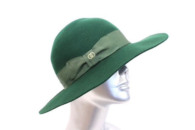 Vintage 70's Gucci Green Hat