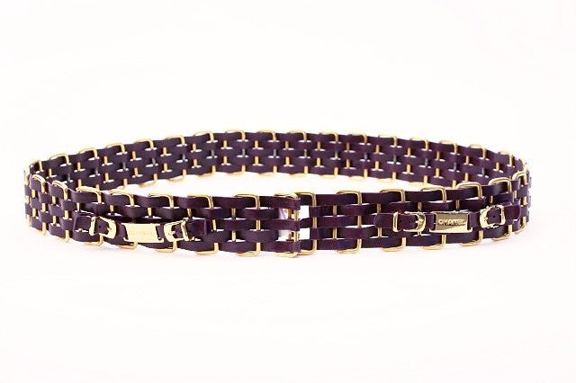 Vintage Chanel Woven Chain Belt