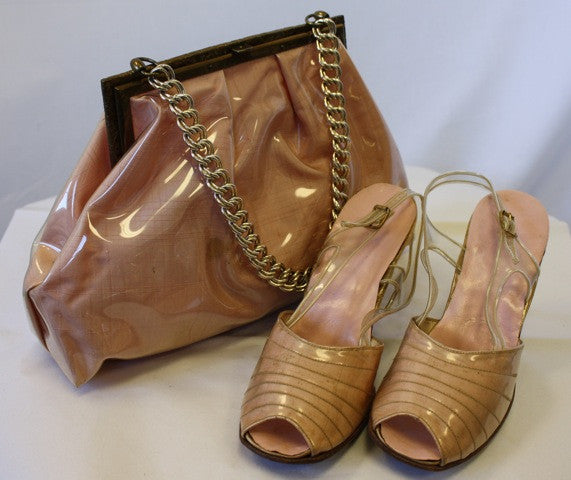 JOAN CRAWFORD Owned Handbag, Shoes, and Change Purse