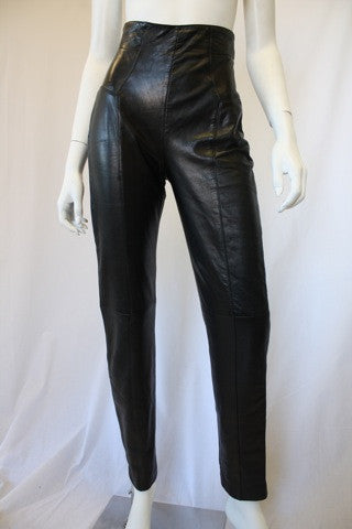 1980s NORTH BEACH LEATHER High Waisted Leather Leggings