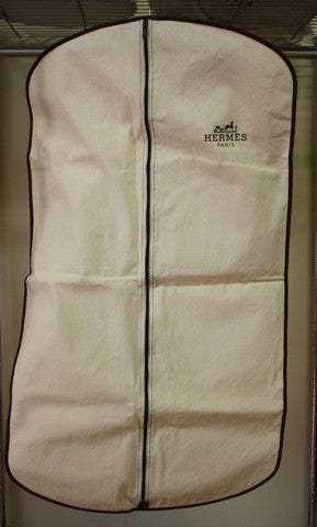 New HERMES Natural Garment Bag with HERMES Logo