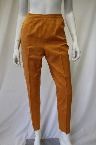 1960s EMILIO PUCCI Orange Silk Capris