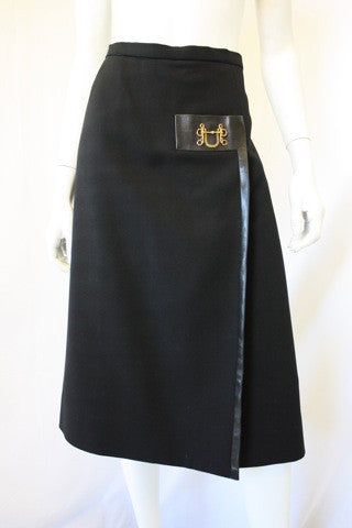 1970s HERMES Wool Skirt