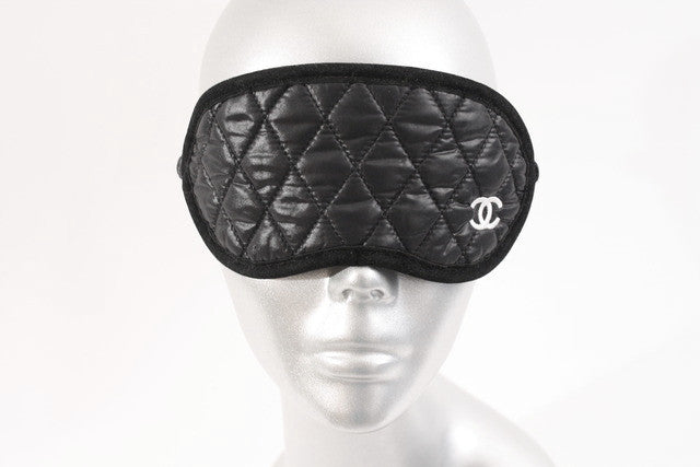 c29e44d541f03 Rare CHANEL Silk Sleep Mask at Rice and Beans Vintage