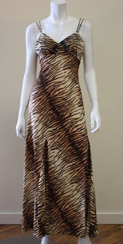 1970s SAKS FIFTH AVENUE Leopard Print Dress