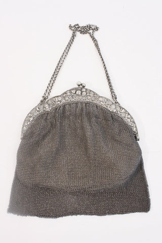 Antique Silver Chain Mail Purse