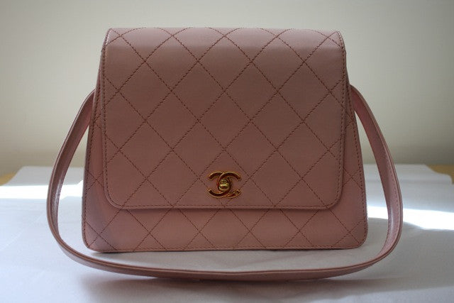 Vintage CHANEL Pink Quilted Flap Bag