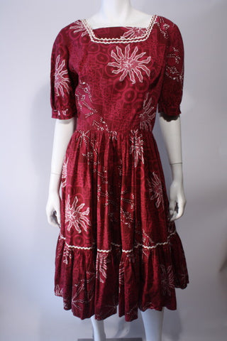 1960s Batik Sundress