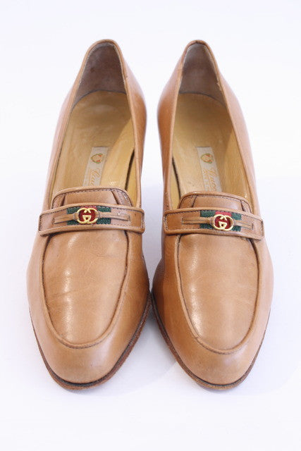 Vintage Gucci Heeled Loafers