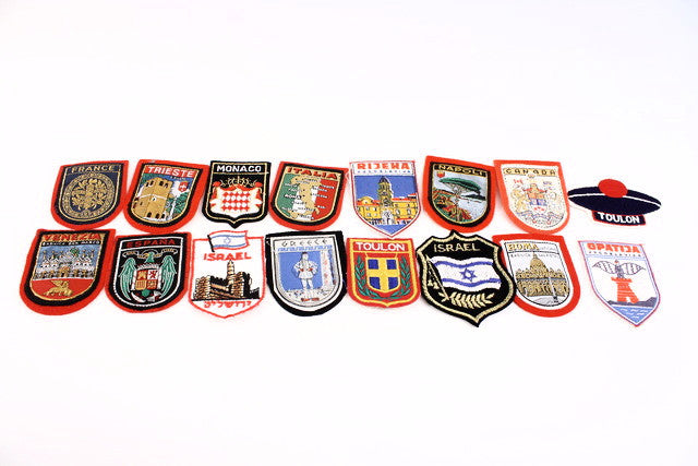 16 Vintage Travel Patches