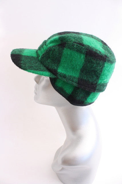 Vintage plaid hunters cap