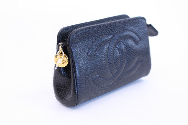 450871bbfab0 Vintage CHANEL Caviar Coin Purse at Rice and Beans Vintage