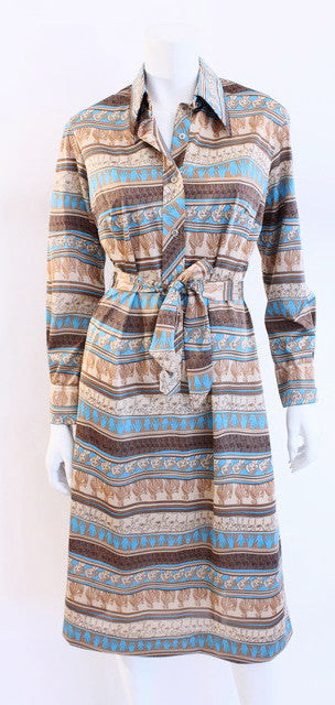 Vintage 70's Lanvin Shirt Dress