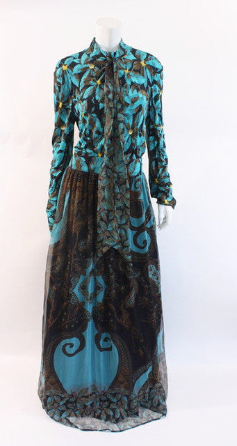 Roberto Cavalli Silk Gown Dress