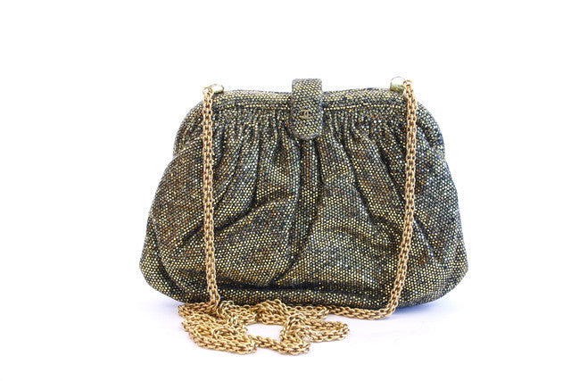 Vintage Chanel Gold Glitter Bag or Clutch