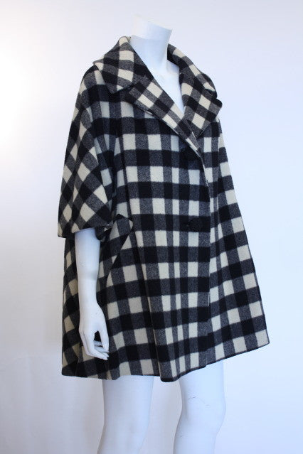 Vintage 50's LILLI ANN Plaid Swing Coat