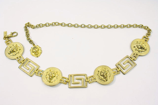 Vintage Lion Chain link belt