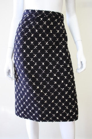 Vintage CHANEL Boucle X-Weave Skirt