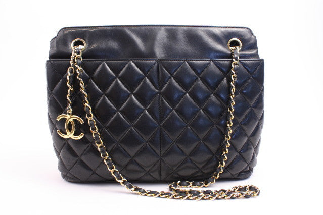 Rare Vintage Chanel Quilted Tote Bag