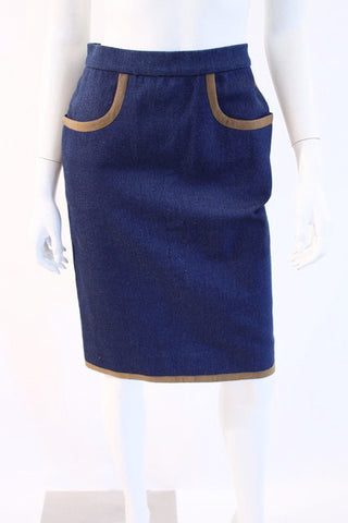 Vintage CHANEL Denim Skirt