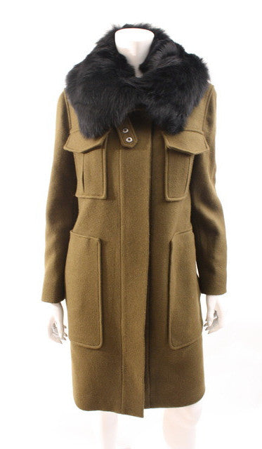 Theory Coat Fur Collar
