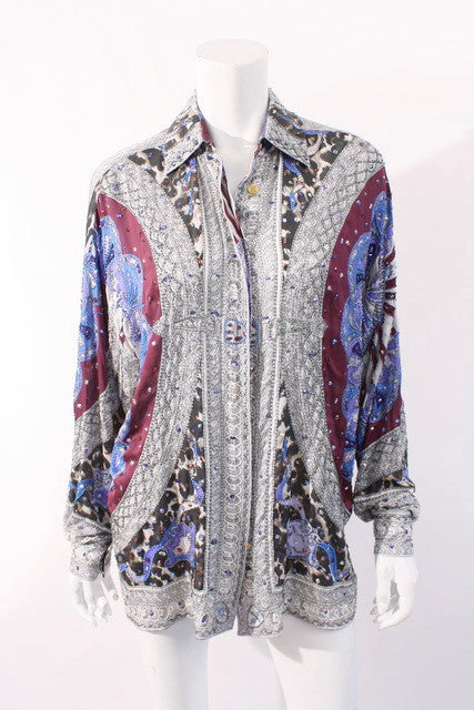 Emilio Pucci Beaded Silk Tunic Blouse