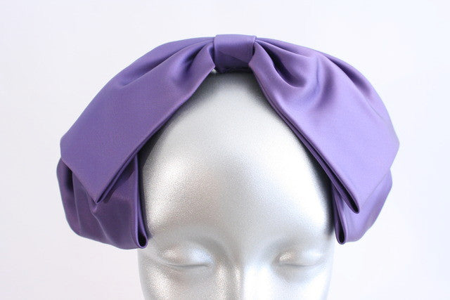 Vintage Saks Fifth Avenue Satin Bow Headband