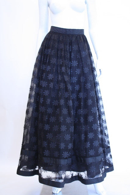 KAY UNGER Black Tulle Skirt