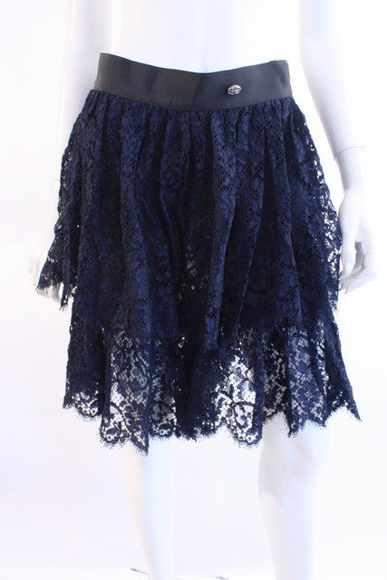 Chanel Lace Shorts Skirt Skorts
