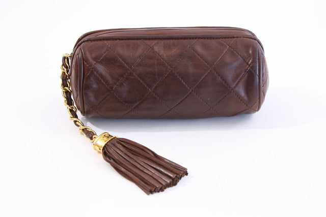 Vintage Chanel Barrel Clutch