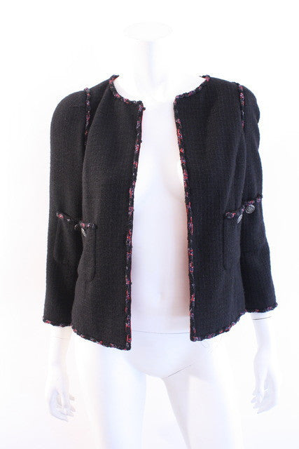 chanel shanghai collection black jacket