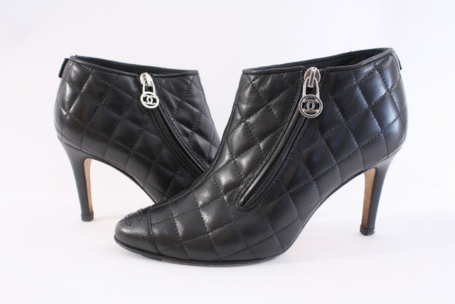 Chanel Quilted Boots At Rice And Beans Vintage
