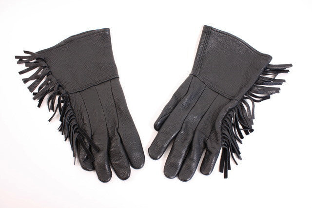 Vintage Deerskin Fringed Gloves