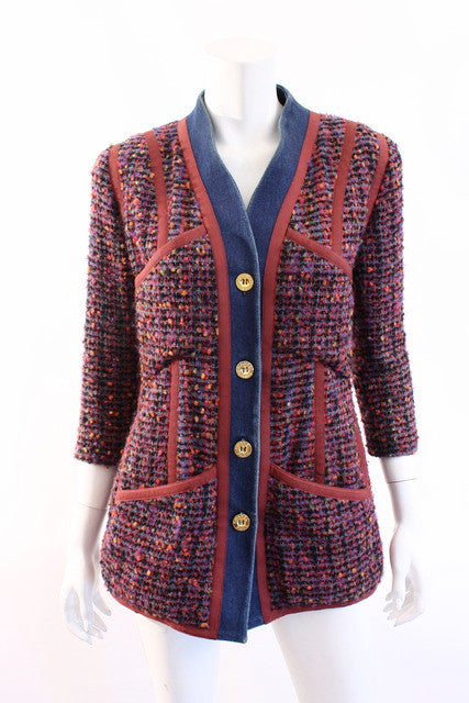 Vintage Chanel Boucle & Denim Jacket