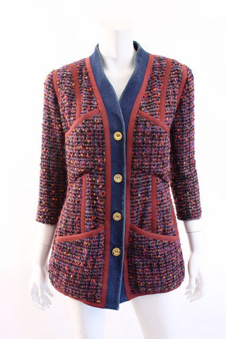 Iconic Vintage CHANEL Boucle & Denim Jacket