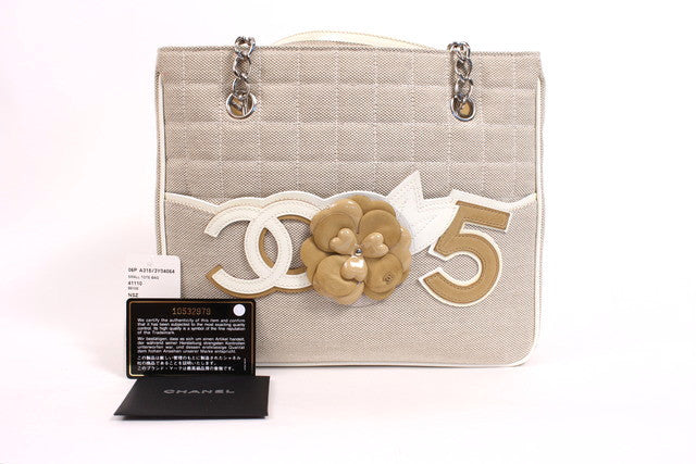 Vintage Chanel Petitie Shopper Bag Tote