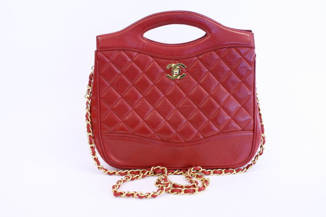 Vintage Red Chanel Bag