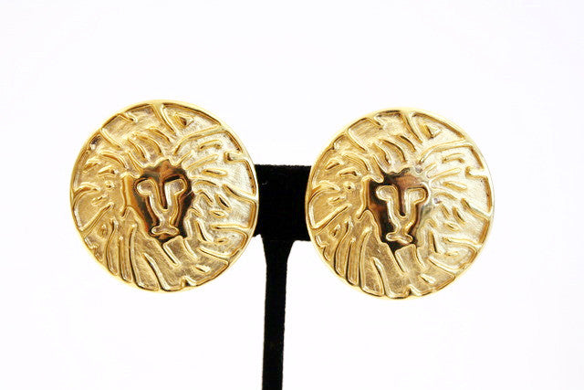 vintage anne klein lion earrings