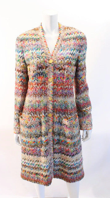 Vintage Chanel Technicolor Coat