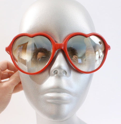 Vintage 80's Lolita Heart Shaped Sunglasses